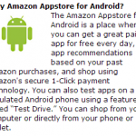 Amazon Appstore para Android