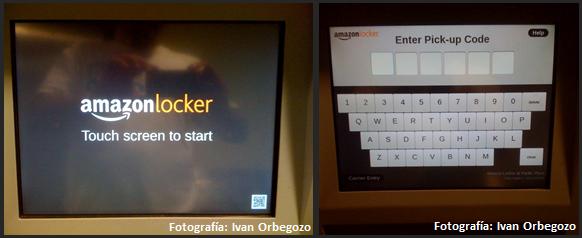 Amazon Locker Screen