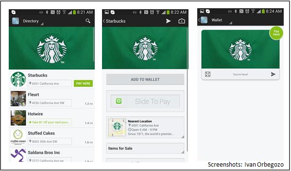 Square Wallet en Starbucks