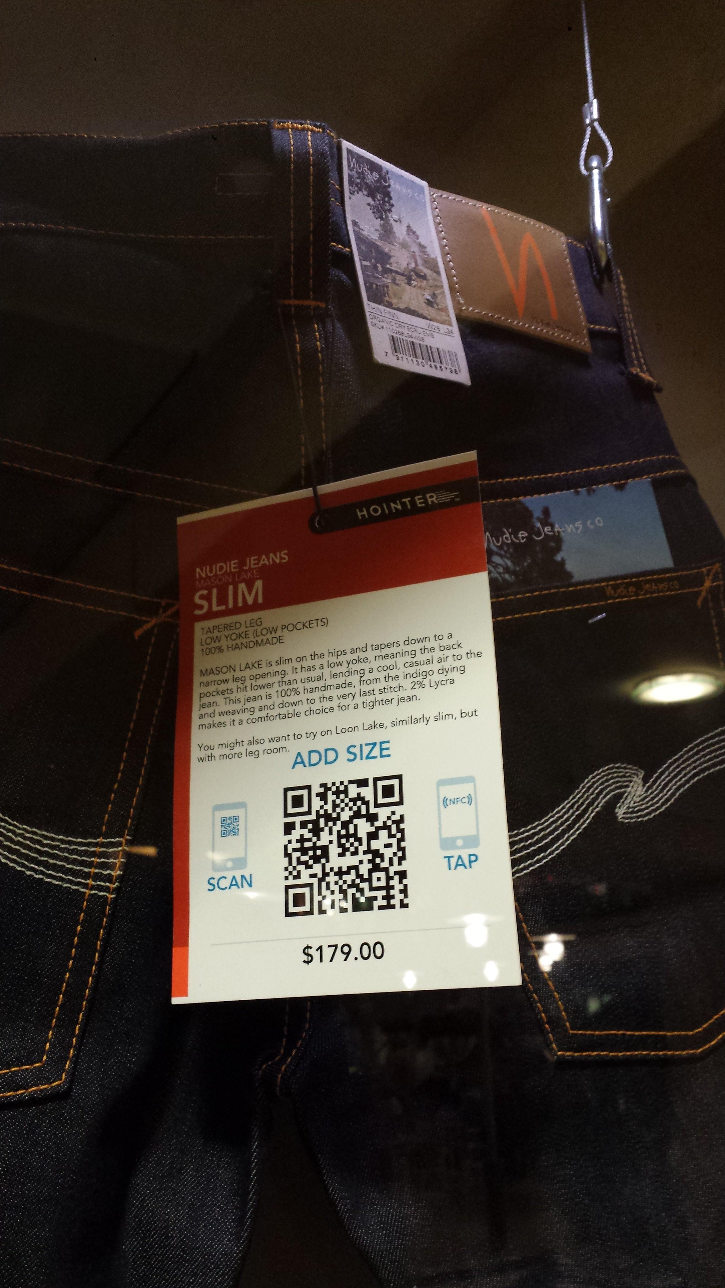 Etiqueta con código QR y NFC